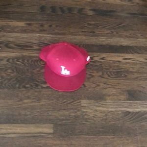 Dodgers hat maroon size 8
